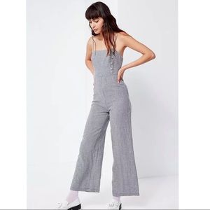 Urban Outfitters Linen Gingham Button Jumpsuit 8